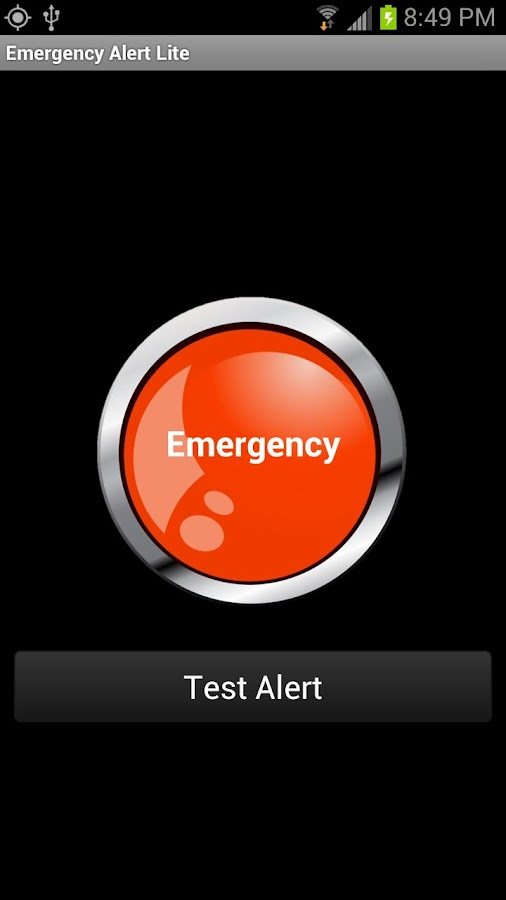Emergency Alert Lite - screenshot