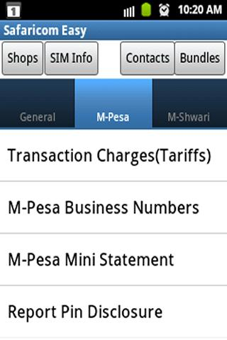 Safaricom Easy - screenshot