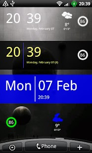 SiMi Clock Widget - screenshot thumbnail