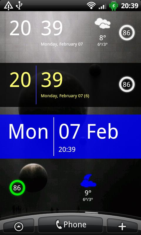 SiMi Clock Widget- screenshot