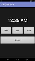 Screenshot of Simple Alarm Clock Free