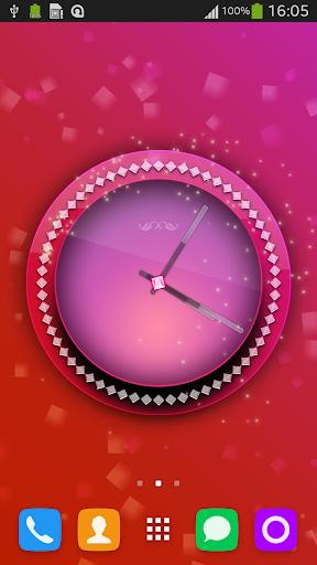 Pink Clock Live Wallpaper