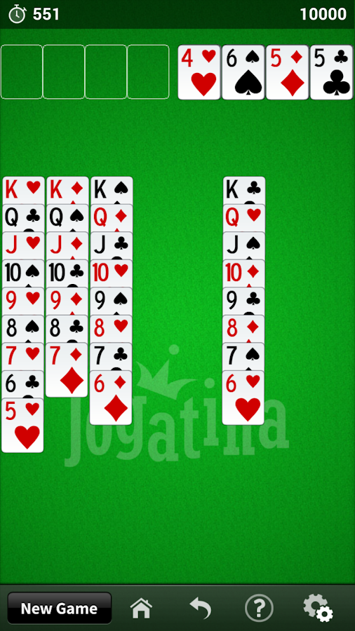 FreeCell Jogatina - screenshot