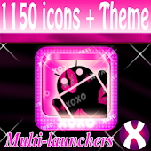 Pink XOXO Lipstick icon pack