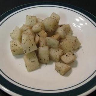 Overnight Chinese Daikon Radish Pickles.