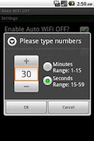 Screenshot of Auto WiFi OFF