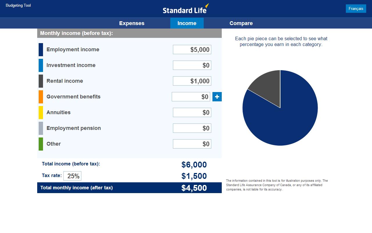 Standard Life Planning Tools- screenshot