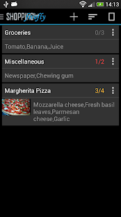 Shopping list license - screenshot thumbnail