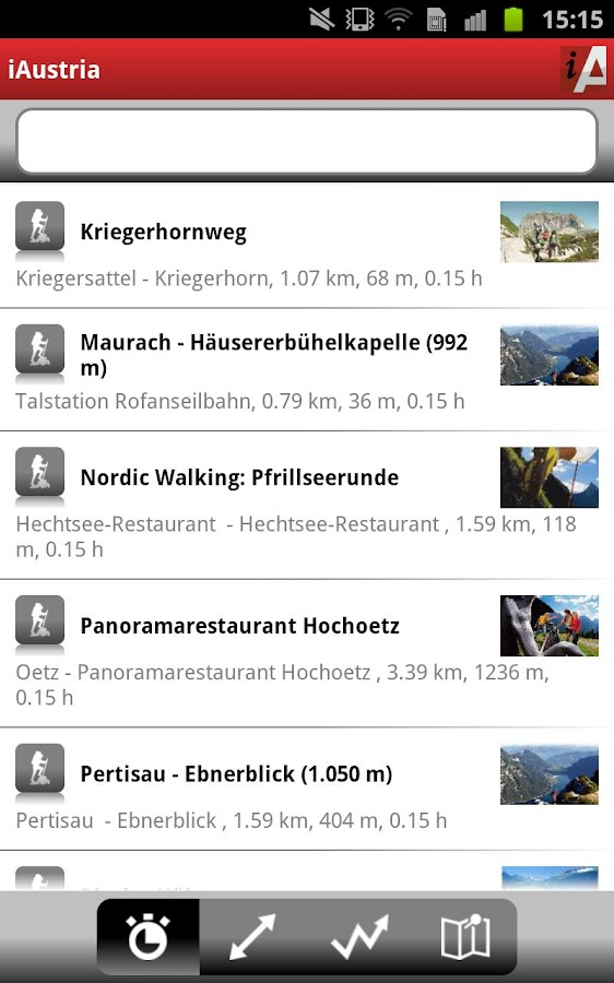 iAustria Leisure radar - screenshot