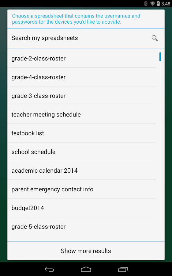Google Edu Device Setup - screenshot
