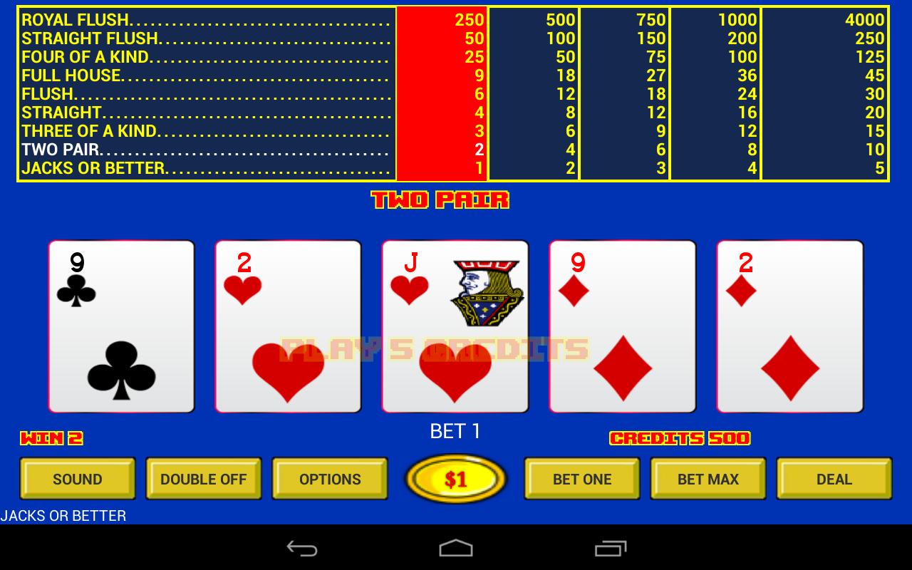 Free Online Video Poker Jacks Or Better