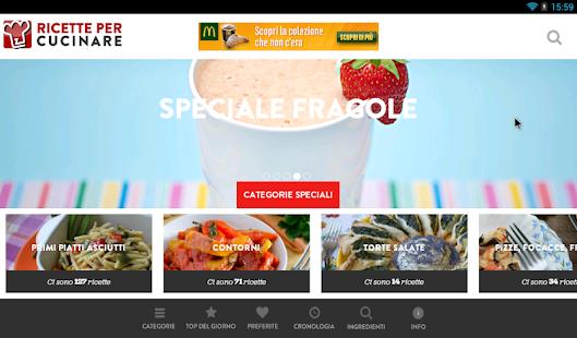 Ricette per Cucinare- screenshot thumbnail