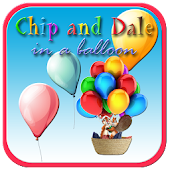 Chip and Dale in a balloon