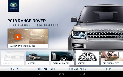 2013 Range Rover Spec Guide