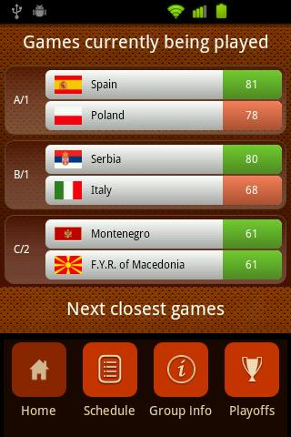 Eurobasket 2011 Live Results- screenshot