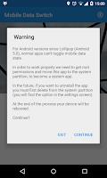 Screenshot of Toggle Mobile Data
