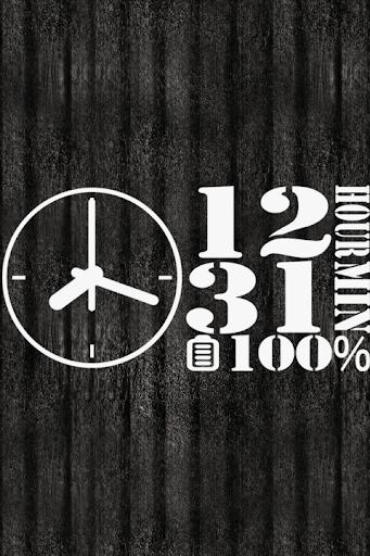 設計模擬時鐘壁紙 - No04