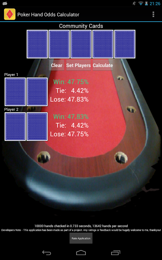 Poker hands odds calculator online