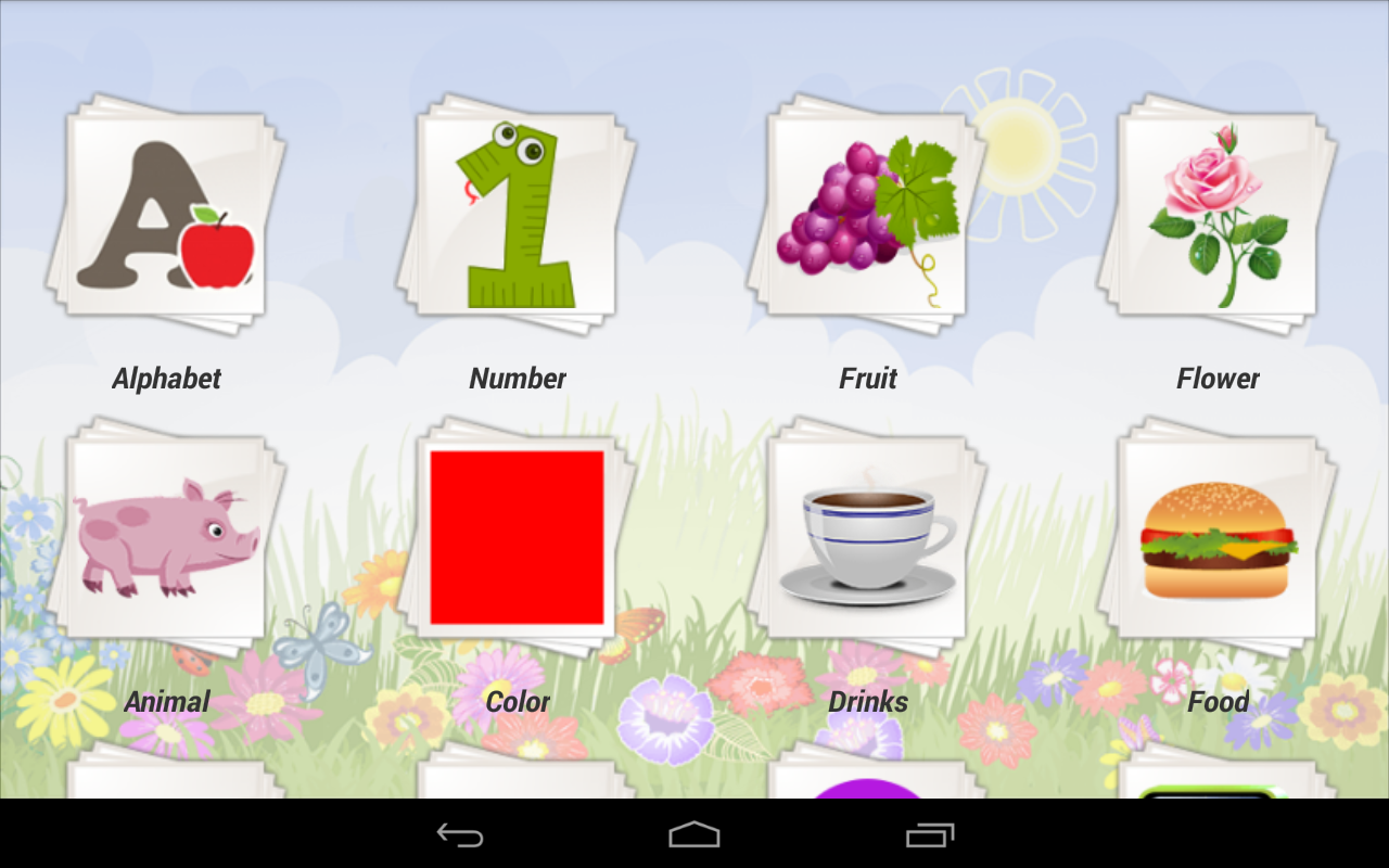 English for Kids: captura de pantalla