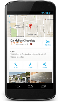 fiche google my business sur google maps version mobile