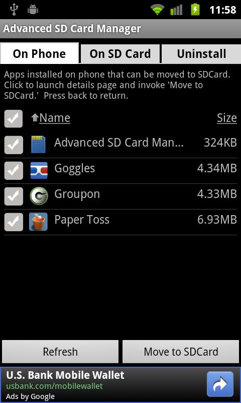Advanced SD Card Manager - screenshot