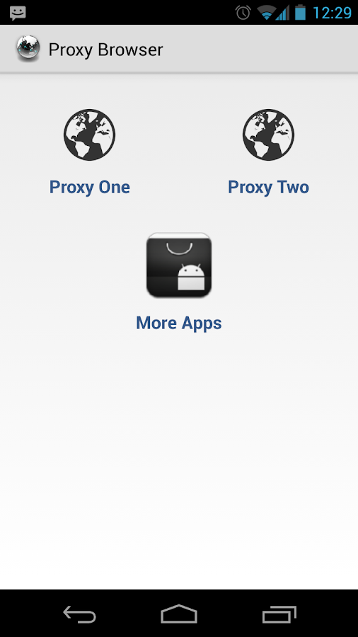 Proxy Browser For Android - screenshot