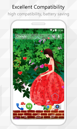 【免費個人化App】Girl Story Live Wallpaper-APP點子