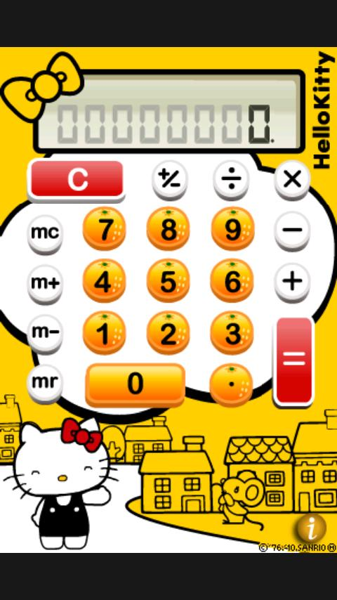 Hello Kitty Calculator - screenshot