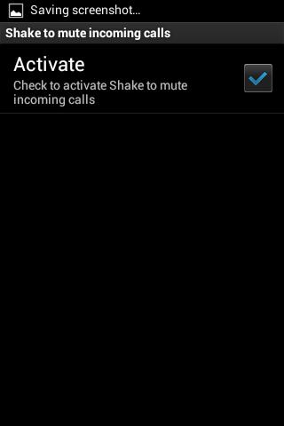 Shake to mute incoming calls