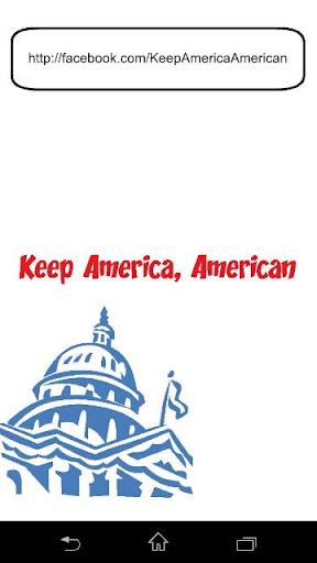 Keep America American