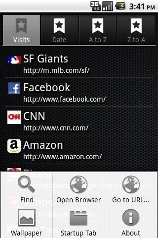 Bookmarks Light- screenshot