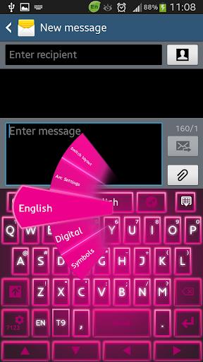 Keyboard Pink Glow