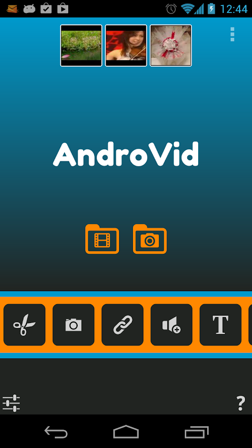 AndroVid Video Editor - screenshot