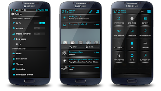 Blue Fire Theme CM11/AOKP v4.02