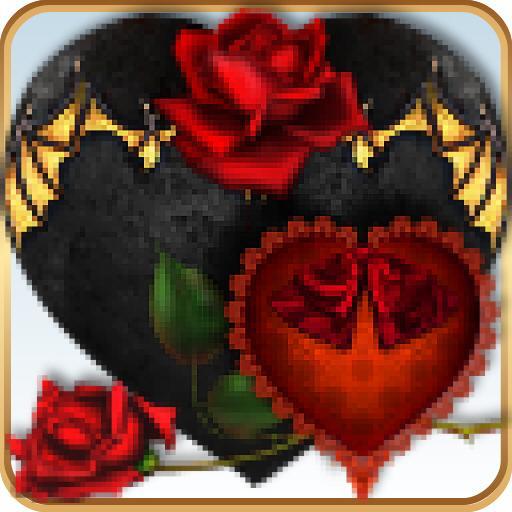 ADWTheme紅色黑色哥特之心 個人化 App LOGO-APP試玩