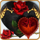 ADWTheme Red Black Goth Hearts