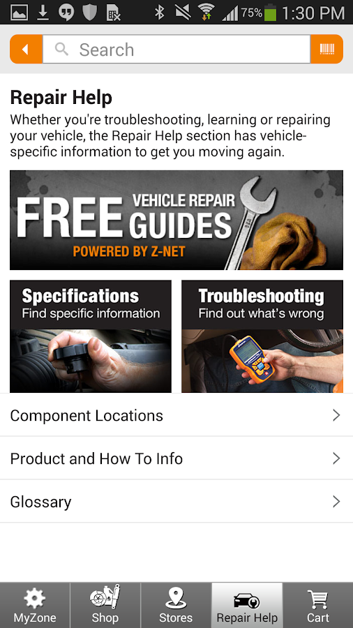 AutoZone- screenshot