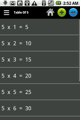 Math Tables- screenshot