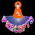 5 precepts , buddhist life icon