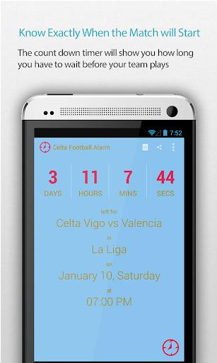 Celta Football Alarm