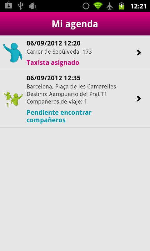 JoinUp Taxi Passenger - screenshot