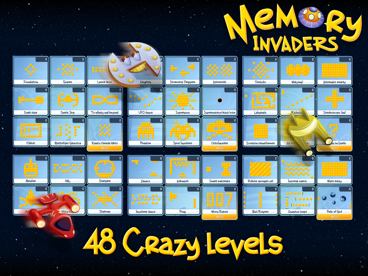 Memory Invaders FREE - screenshot