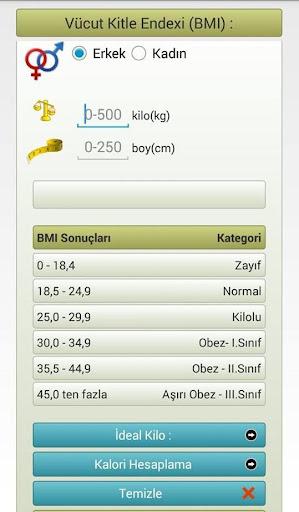 身体质量指数和理想公斤计算器