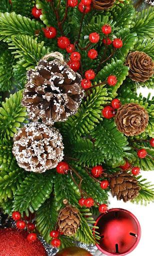 Christmas Pine Cones HD LWP