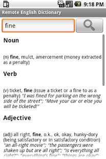 Remote English Dictionary - screenshot thumbnail
