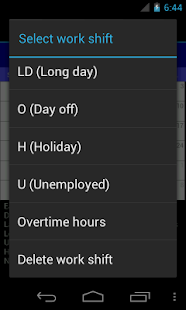 Work Shift Calendar - screenshot thumbnail