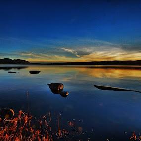 Sunset over Silent water - Oslo, Maridalen by Stine Engelsrud - Landscapes Waterscapes ( landscape_captures, ic_landscape, sky_captures, splendid_shotz, global_hotshotz, rsa_sky, rsa_ladies, rsa_water )