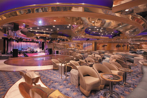 Enchantment-of-the-Seas-Carousel-Lounge - Meet friends for an evening of dancing, live music and cabaret at the Carousel Lounge, on deck 6 of Enchantment of the Seas.