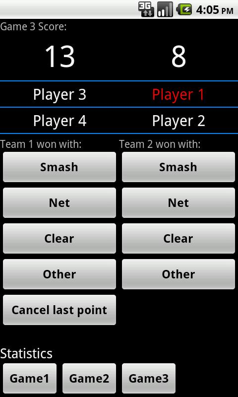 Badminton Score lite - screenshot