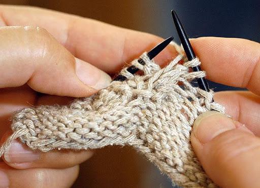 編み物レッスン